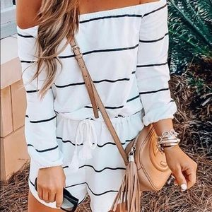Other - Off the shoulder Romper that's super cute